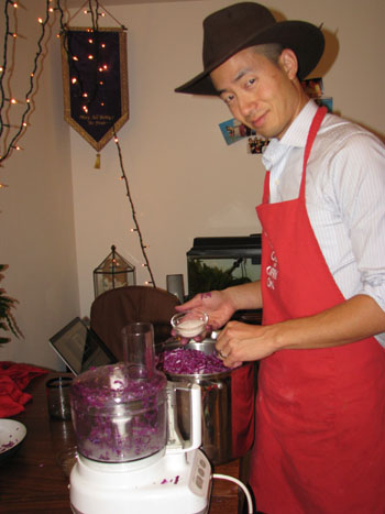 cuisinart and pot Paul Choi cooking sauerkraut healthy eating