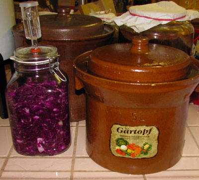 kraut containers fermented foods recipe sauerkraut Paul Choi conscious eating